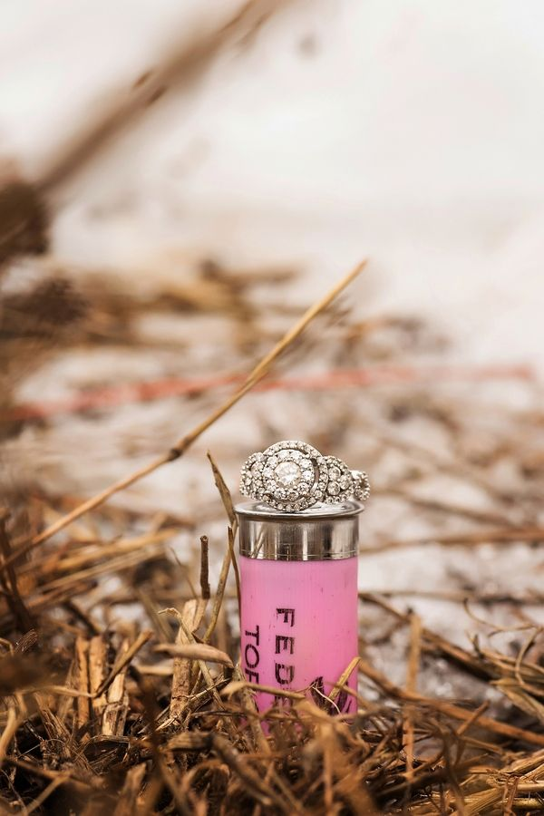 Outdoor Country Winter Engagement / Danica Sullivan Photography