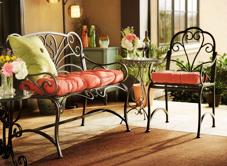 Black Metal Scroll Patio Bench. 76 best Kirkland s   the obsession    images on Pinterest