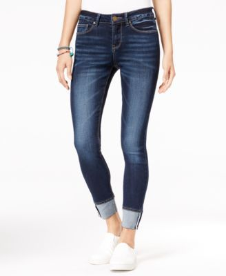 Strut your stuff in these must-have skinny jeans from Indigo Rein and wear them with absolutely everything. | Cotton/polyester/rayon/spandex | Machine washable | Imported | Mid rise | Skinny fit throu