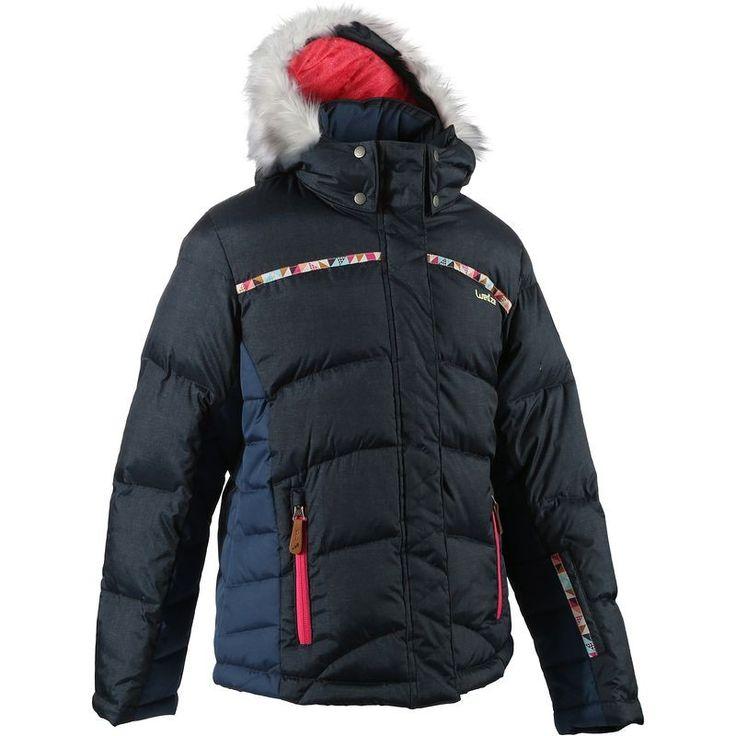 Dívčí lyžařská bunda Warm Maxi tmavě modrá