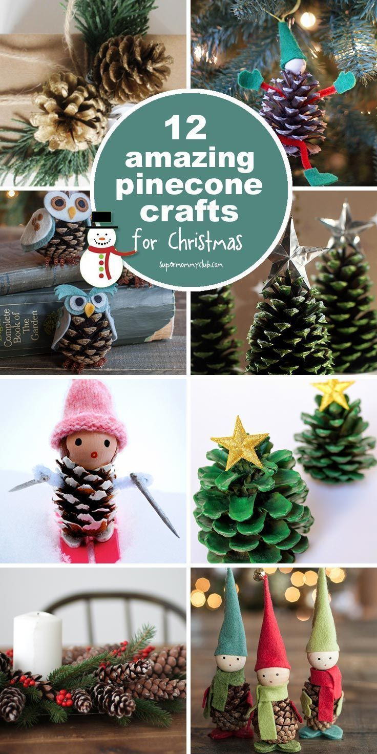 These pinecone crafts are fabulous and perfect for decorating the house this Christmas! | Basteln weihnachten, Weihnachtszeit basteln, Weihnachtsdeko basteln