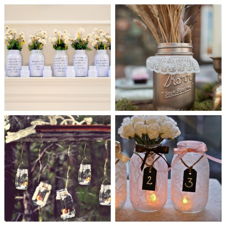 Wedding Decorations Using Mason Jars: Mason Jars, Great Ideas To Use In A