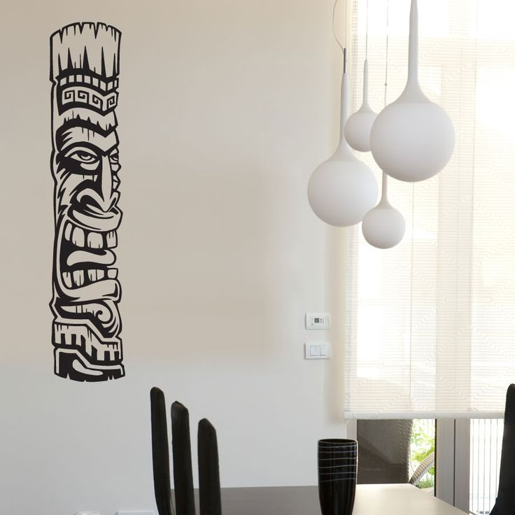 Add some Polynesian flavor to your room with this Tiki Totem Wall decal. Collect all four tiki totems for the ultimate Tiki paradise.