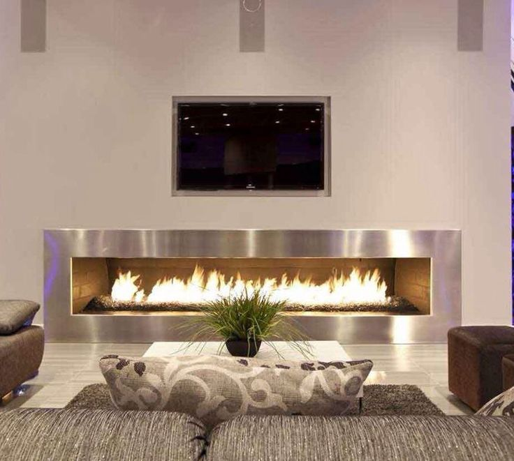 Modern Wall Fireplace Design Home Decorating Ideas Kitchen