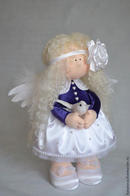 Человечки ручной работы. Ярмарка Мастеров - ручная работа. Купить Нежный angel. Handmade. Тёмно-фиолетовый, ангел-хранитель, кукла