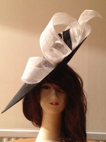 FARFALLA Sinnamay Hat With Bow Color-Ivory EoW8gT