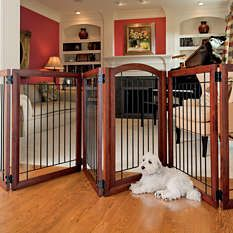 Dog gates - Freestanding Pet Gates - Wooden Dog Gates - Frontgate