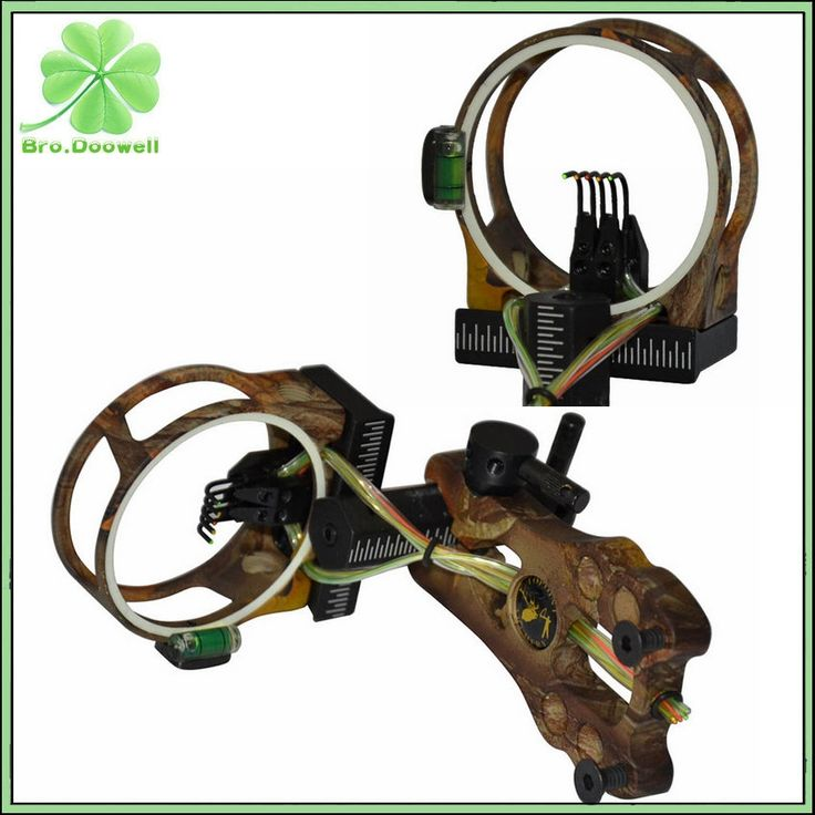 "44.51$  Buy here - http://aimk9.worlditems.win/all/product.php?id=32756978641 - ""Archery Camouflage Compound Bow Sight 5 Pin 0.019"""" Fiber Optic Bowsight With Led Light Hunting Shooting Camo"""