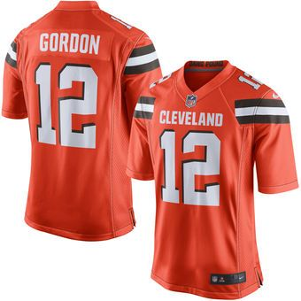 Men's Nike Josh Gordon Orange Cleveland Browns Game Jersey