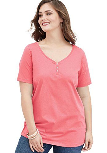eeee00d3361 Ultimate Tee Women s Plus Size Sweetheart Neck Ultimate Tee at Amazon  Women s Clothing store  Fashion T Shirts. Roamans ...