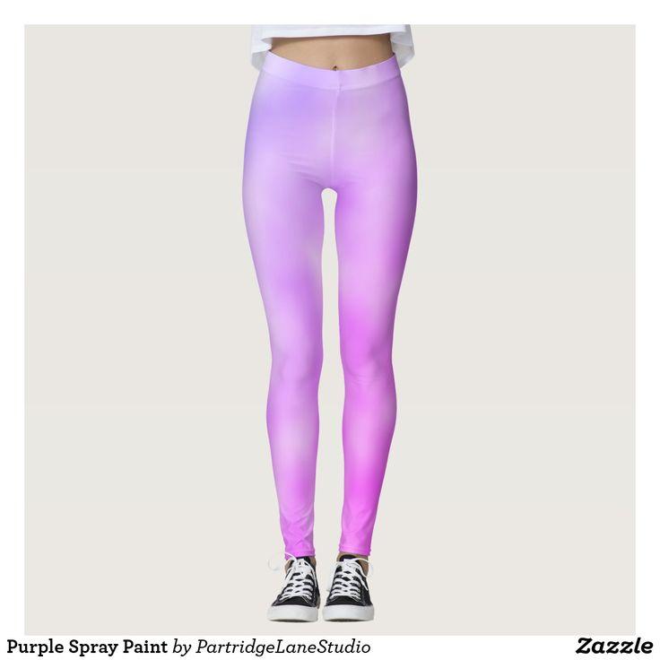 Purple Spray Paint yoga Legging