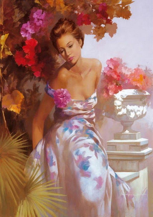 Andrei Belichenko, (woman in a summer dress)