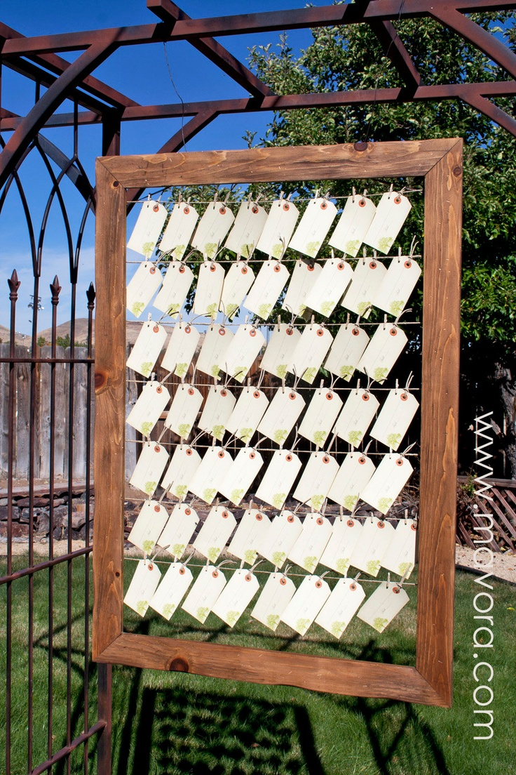 Big Tree - Vintage Luggage Tag Escort Cards - Place or Favor Cards for your Wedding Day - Set of 25 Tags. $35.00, via Etsy.