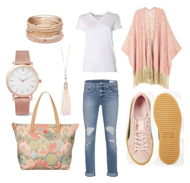 """""""**Spring Magic**"""" by j-hadzic ❤ liked on Polyvore featuring Melissa McCarthy Seven7, T By Alexander Wang, Puma, rag & bone, Oasis, Larsson & Jennings, Red Camel and plus size clothing"""