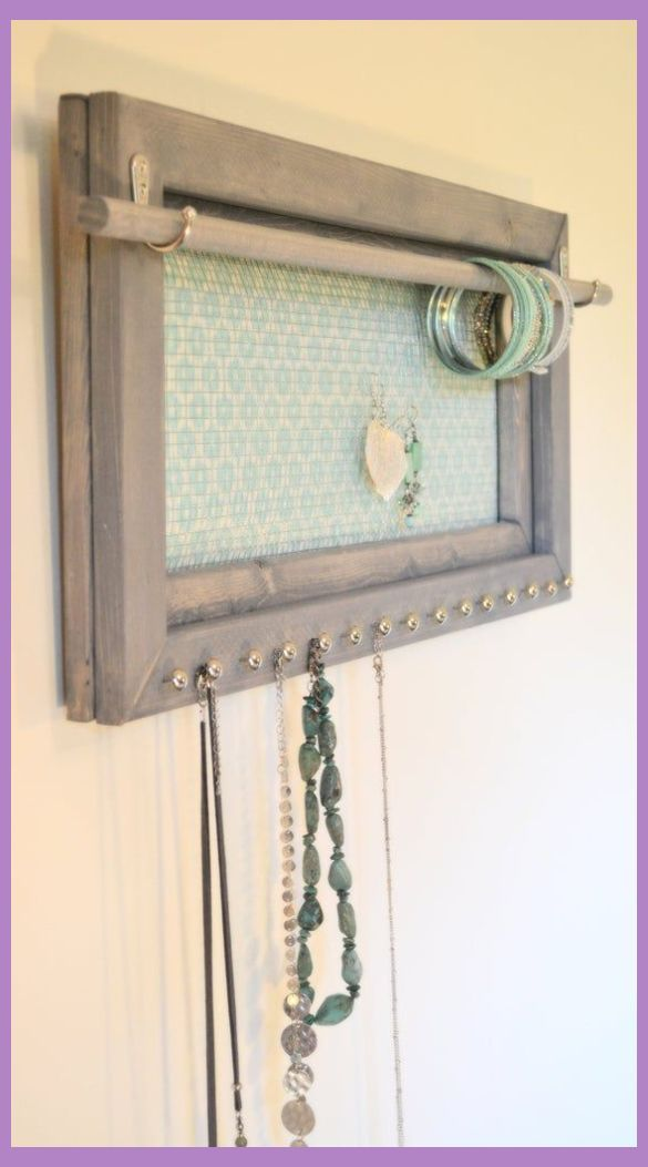 Jewelry Organizer Diy Wall   Hanging Jewelry Organizer for Bedroom Wall, Small Space Living, Gift for Mom, Jewelry Holder Wall Mounted, Earring Organizer Screen   Jewelry Organizer Closet Armoires   Jewelry Organizer Diy Necklaces