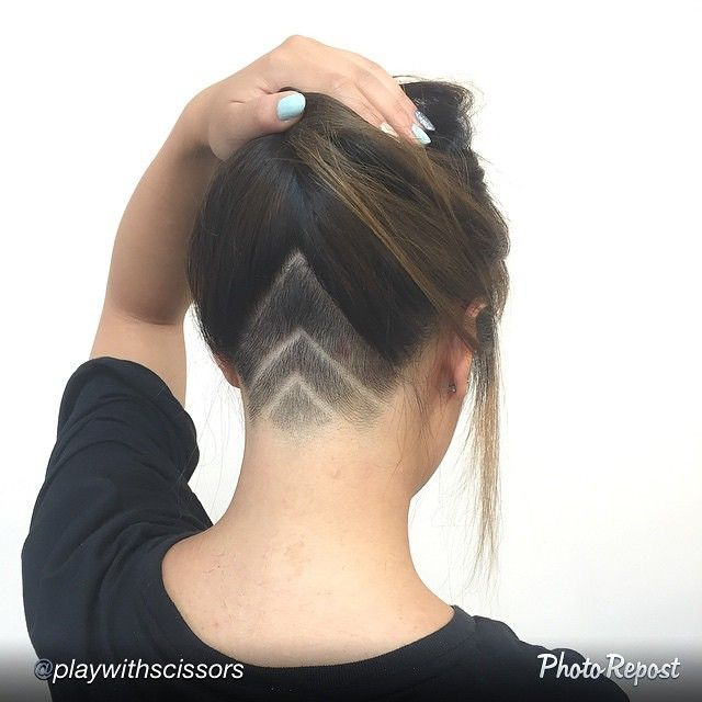 seriously considering a nape undercut...