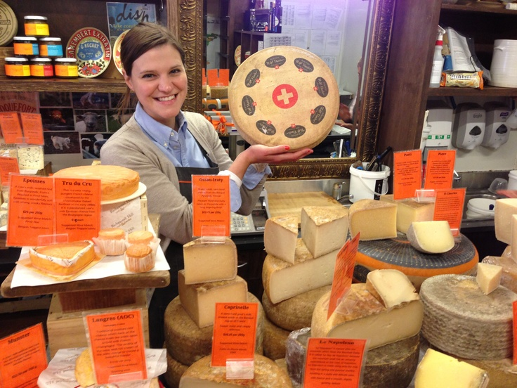 Exciting times at Richmond Hill Café & Larder before cutting up our wonderful wheel of Rolf Beeler Raclette