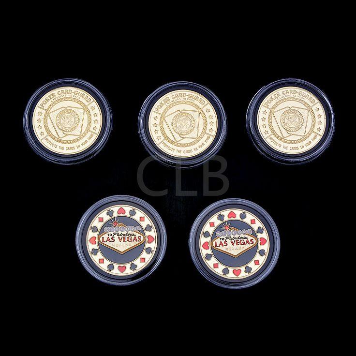 Оптовые Красочные Позолоченные Покер Монета Покер Карты Гвардии Мода Стиль ЛАС-ВЕГАС Монета с Пластиковый Корпус для Подарков