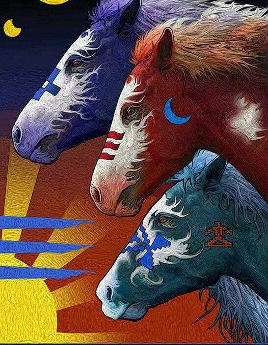 Painted Indian Ponies.