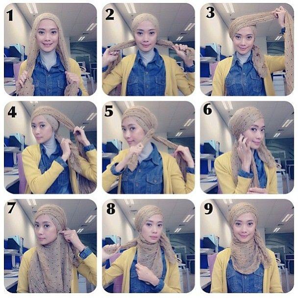 Cara Memakai Hijab Turban