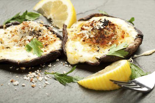 Grilled Stuffed Portobello Mushrooms  https://www.nataliemaclean.com/recipes/view/grilled-stuffed-portobello-mushrooms/278 #wine #natwine #lcbo #saq #bcldb