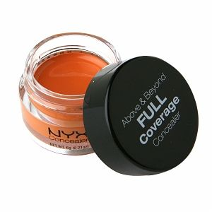 NYX Above & Beyond Full Coverage Concealer, Orange - Great for dark circles.