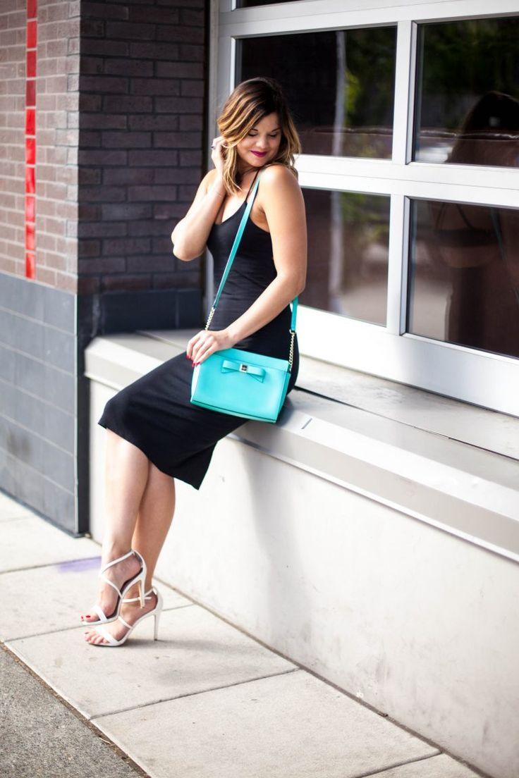 HERBoutique.com | Little Black Dress | LBD | Midi Bodycon Dress | Kate Spade Crossbody | Style Miss Molly