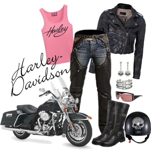 harley davidson.  Would love to be able to wear this outfit someday