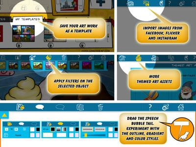 Comics Head - easy way to create comics, stories, presentations, and more! A wonderful creativity app for parents, teachers, and kids aged 9+