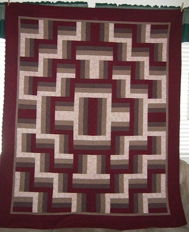Cool Rail Fence Quilt  ok usually rail fence quilts bore me, but this one is quite different