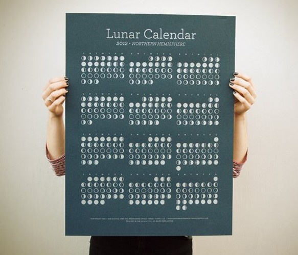 2012 Lunar Calendar by Greenwood Space Travel Supply