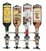 Wall Mount Liquor Pourer - 4 Bottle