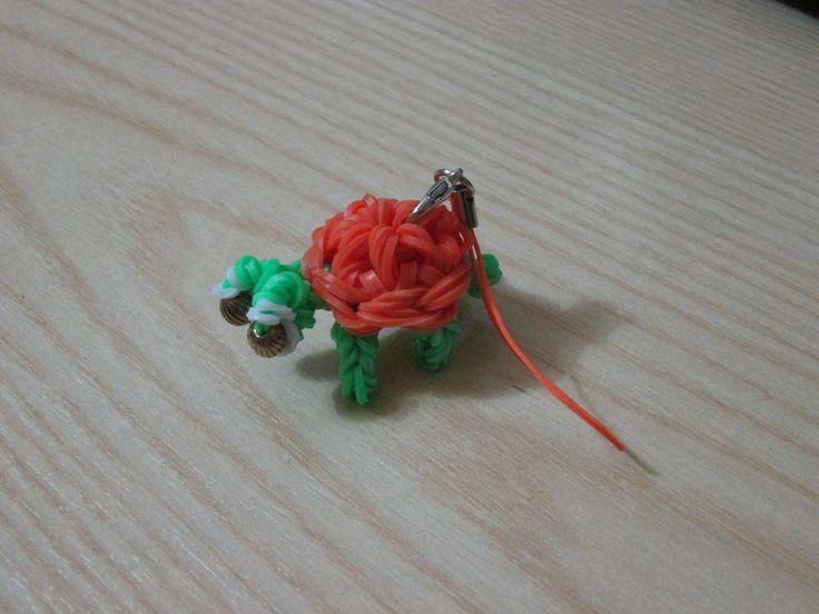 Tartaruga fatta con gli elastici e perline