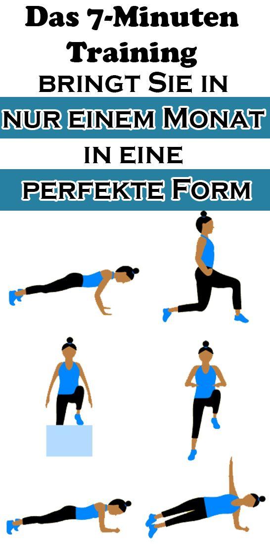 Das 7-Minuten Training bringt Sie in nur einem Monat in eine perfekte Form