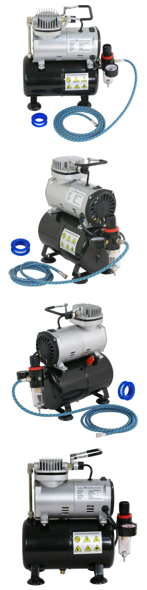 Systems and Sets 183095: Professional Air Compressor Kit With 3L Liter Air Tank - Paint Hobby Cake Tattoo -> BUY IT NOW ONLY: $54.99 on eBay!