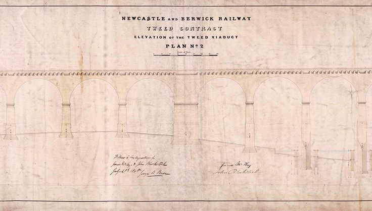 Designed by Robert Stephenson, the Royal Border Bridge was the last link in completing a continuous railway line running between London and Edinburgh.