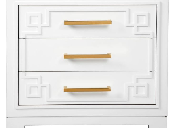 York 3 Drawer Nightstand | Nightstands | Bedroom | Furniture | Z Gallerie could make this from an IKEA hack??