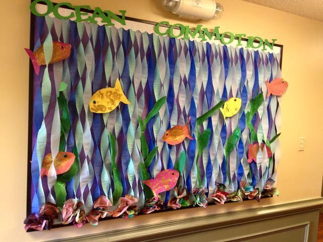 aquarium bulletin board ideas (1) | funnycrafts