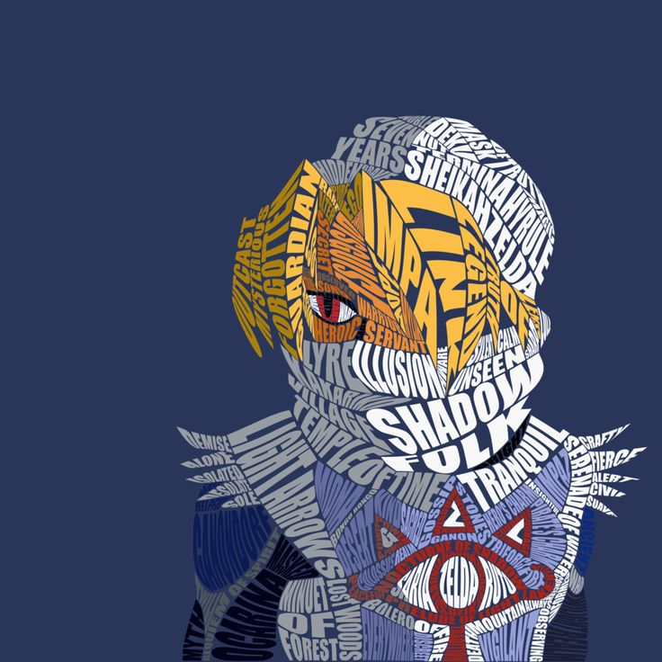 Sheik Typography (OoT) by Sophistilax (Brandon)