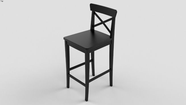 Large preview of 3D Model of Bar chair, IKEA