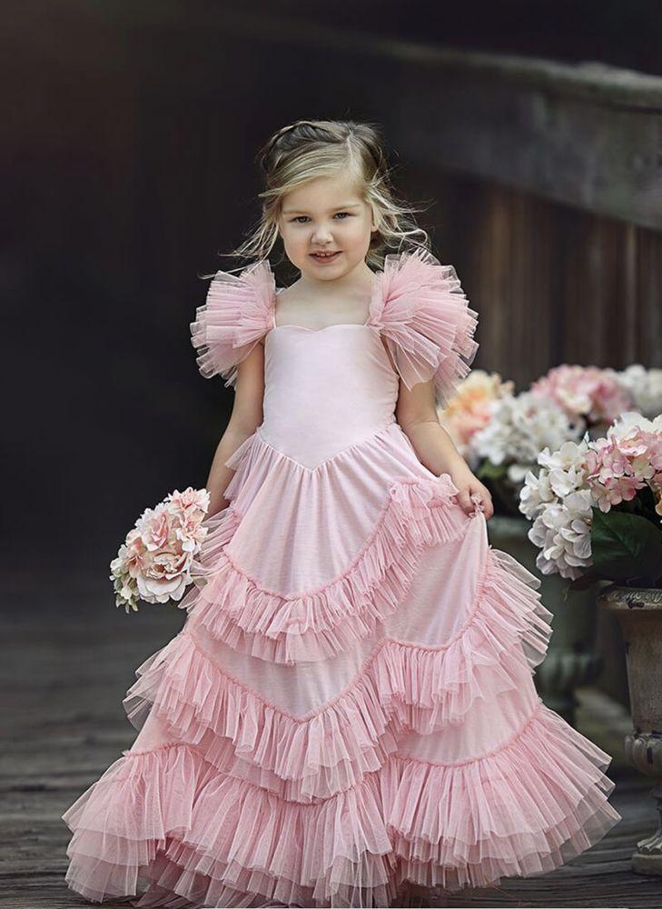 b4415c5a1e8 DOLLCAKE LIGHT PINK SWEETLY IN THE TREES FROCK SIZE 10  Dollcake   BridesmaidChristmasCommunionDressyHolidayPageantPartyWeddingFlowerGirl
