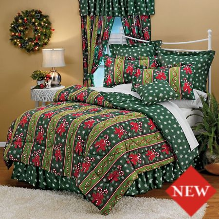 Christmas Bedding | Cabin Christmas : Christmas Holiday Quilts: Candy Cane Bedding