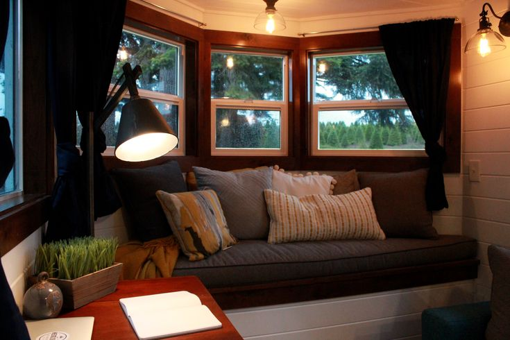 Cozy bay window in this tiny heirloom for clients sean and for Hgtv home for sale