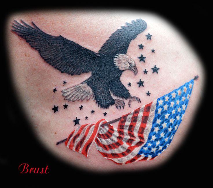 tattoo adler america flagge freiheit tattoo. Black Bedroom Furniture Sets. Home Design Ideas