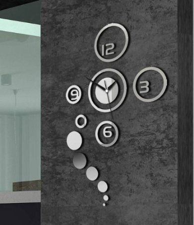 Amazon.com - Home Decorative wall clock modern design large mirrors Gift living room (White) -