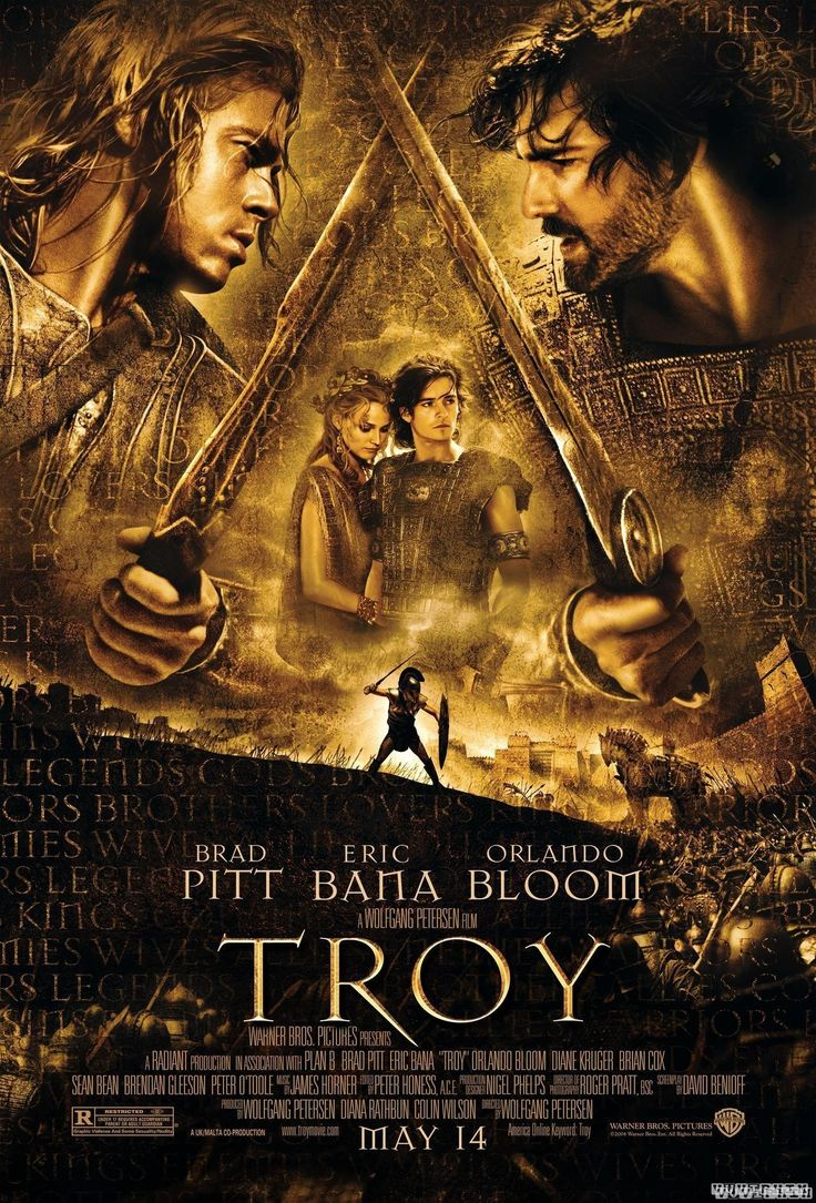 Troy is a 2004 American epic period war film written by David Benioff and directed by Wolfgang Petersen https://en.wikipedia.org/wiki/Troy_(film) (fr=Troie )