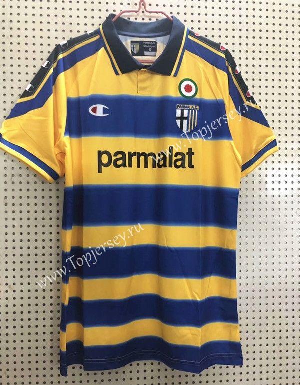 Retro Edition 1990-2000 Parma Calcio Home Yellow   Retro football ...