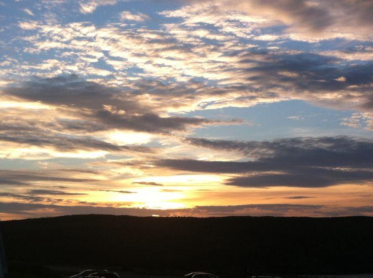 Sun set near Cape Spear