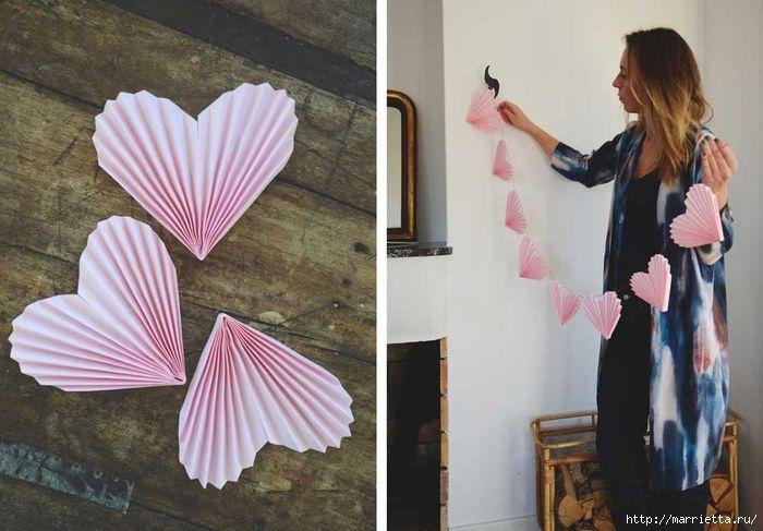 Heart bunting Гирлянда из сердечек для оформления свадебного торжества (6) (700x487, 233Kb)