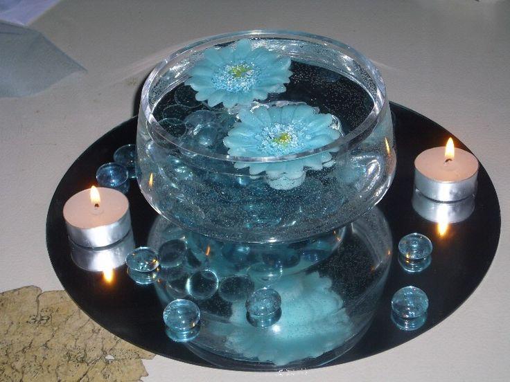 Light blue wedding centerpieces google search centre